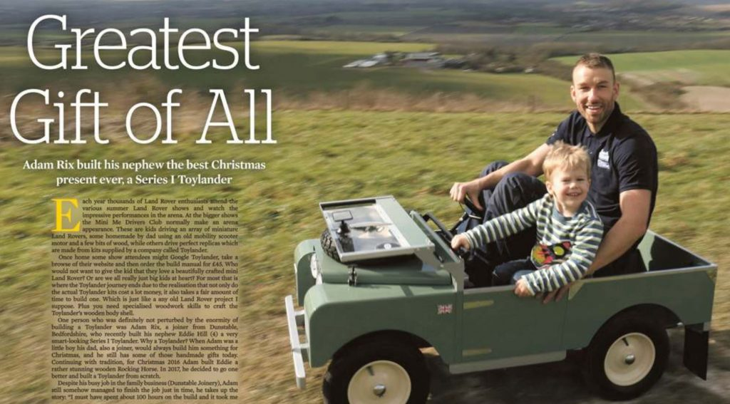 Article in Landrover Monthly